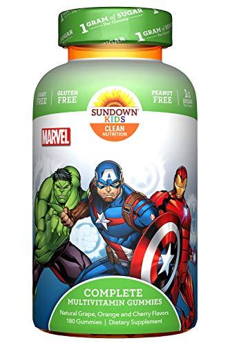 Sundown Kids Marvel Avengers Complete Multivitamin, 180 Gummies (Packaging may Vary)