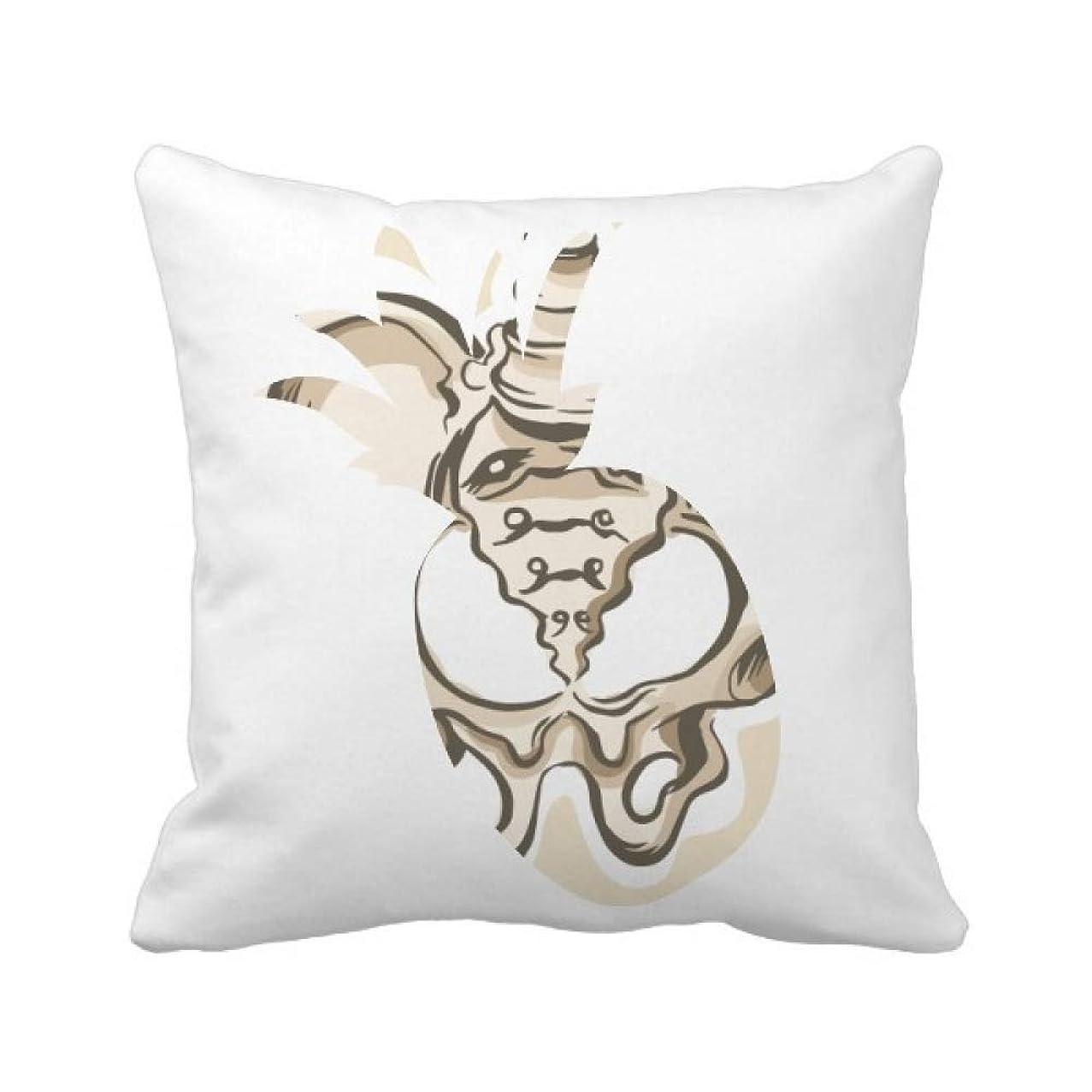 知り合い敬礼愛されし者単純な人間の骨格のスケッチ パイナップル枕カバー正方形を投げる 50cm x 50cm