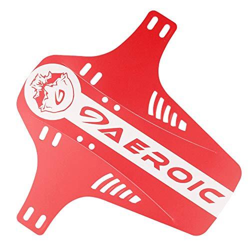 Schutzbleche Mountainbike MTB Spritzschutz Mudguard Fahrrad Zubehör Mud Guard Fahrradkotflügel (rot)