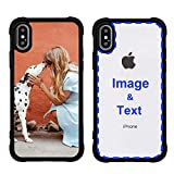 MXCUSTOM Custom Apple iPhone X iPhone Xs iPhone 10 Case, Customized Personalized with Photo Image Text Picture Design Make Your Own Phone Cases Covers [Soft TPU Bumper+Clear Hard PC Back] (PHT-BK-P1)