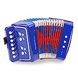 New Classic Toys - 10056 - Instrument À Vent - Accordéon Bleu avec Le Livre de Musique