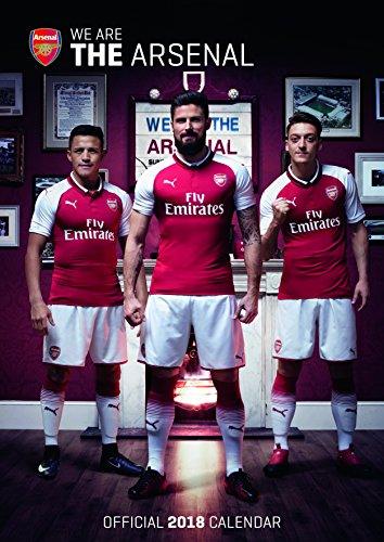 Arsenal Official 2018 Calendar A3 Poster Format (Calendar 2018)