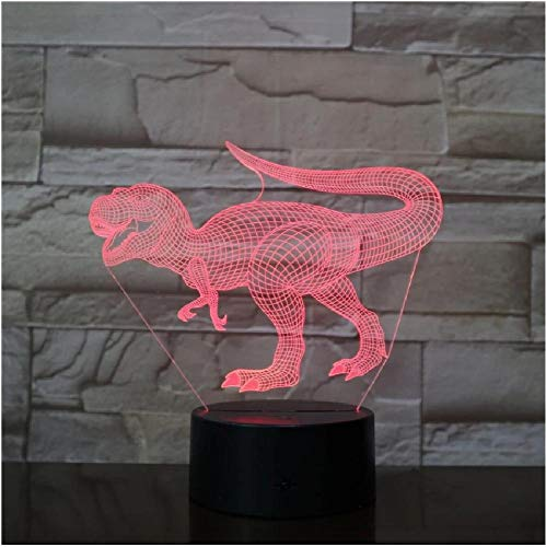 Nuevo dinosaurio Jurassic World Triceratops 3D Led luz de noche escritorio lámpara de sueño creativo niños juguete dormitorio decoración del hogar niños regalo de nacimiento