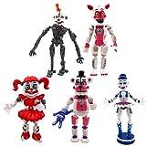 YEKKU Juego de 5 figuras de acción FNAF juguetes aligerar articulaciones móviles figuras de acción juguetes de PVC figura de acción Bonnie Foxy Fre-ddy juguetes fazbear oso muñeca bebé juguetes