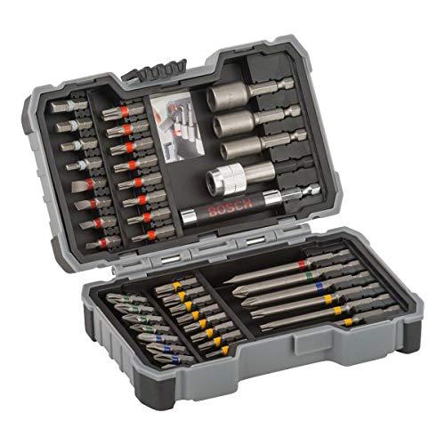 Bosch Professional Set de 43 unidades para atornillar y llaves de vaso (accesorios para taladro atornillador)