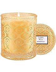 LA JOLIE MUSE アロマキャンドル カボチャの香り ソイキャンドル 家庭用 55時間燃焼可能 家の装飾 ガラスの瓶 230g
