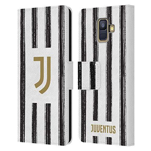 Head Case Designs Offizielle Juventus Football Club Home 2020/21 Match Kit Leder Brieftaschen Handyhülle Hülle Huelle kompatibel mit Samsung Galaxy A6 (2018)