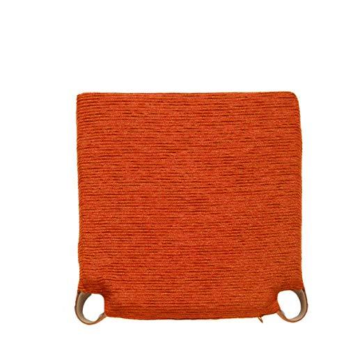 Arcoiris Pack 6 Almohadillas para sillas 40x40cm, Relleno de Fibra y Espuma, Cómodos, Resistentes, Fácil de Limpiar, para Cocina, Cuarto, Sala, Jardín, Terraza, Patio (Naranja, Fantasy)