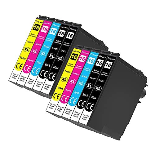Tinnee 16XL Multipack Cartucce, Compatibile con Epson 16 XL, per Epson WorkForce WF-2010 WF-2510 WF-2520 WF-2530 WF-2540 WF-2630 WF-2650 WF-2660 WF-2750 WF-2760 (4 Nero,2 Ciano,2 Magenta,2 Giallo)