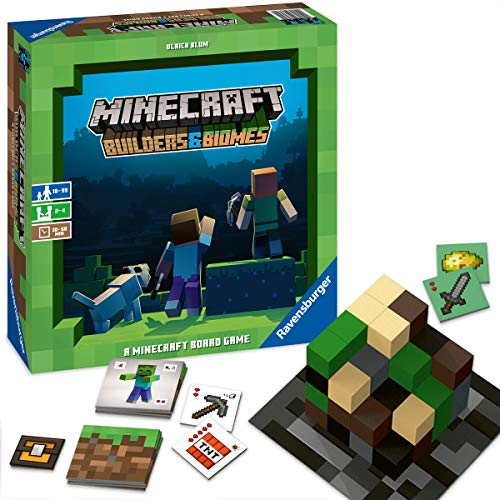 Ravensburger - Minecraft: Builders & Biomes Juego de Mesa, Light Strategy, 2-4...