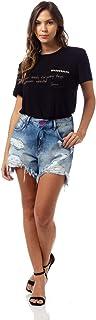 Bermuda Jeans Brenda, Sommer, Feminino
