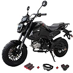 125cc Vader Gas Motorcycle ship from Moto Pro. Every package comes with X-Pro Gloves, Goggle and Handgrip! Front and Rear Disc brake supply strong, reliable stopping power. 120/70-12 front and 130/70-12 rear tires offer great traction. Large headligh...