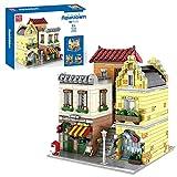 FADY Juego de construcción de bloques de construcción para casa con luz, Café Modular Arquitectura Custom – 3103 piezas...