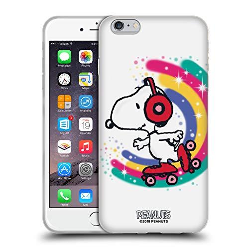 Head Case Designs Licenza Ufficiale Peanuts Skating Colorato Snoopy Passeggiata Aerografata Cover in Morbido Gel Compatibile con Apple iPhone 6 Plus/iPhone 6s Plus