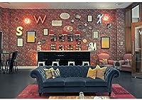 新しい9x6ftコレクション壁の背景赤レンガ目覚まし時計絵画音楽キャラクターソファヴィンテージスタイルインテリア装飾写真の背景ポートレート写真撮影スタジオの小道具