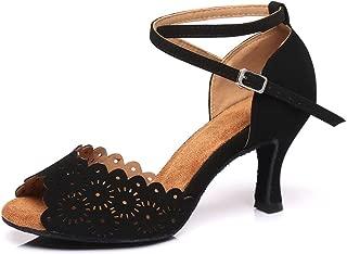 YKXLM Women's Professional Rhinestone Ballroom Wedding Dance Shoes Latin Salsa Performance Practice Dance Shoes,Model AUYCL384