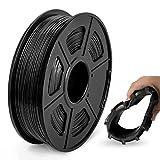 JAYO de SUNLU TPU Flexible Filament 1.75mm, Impresora 3D TPU Shore 95A, 500g TPU Negro, Precisión Dimensional +/- 0.02mm