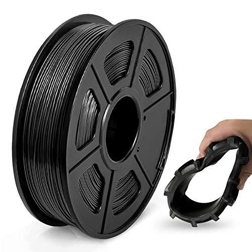 Filamento TPU 1,75 mm, Filamento Flessibile per Stampante 3D JAYO TPU Shore 95A, 0,5 kg TPU Nero, Precisione Dimensionale +/- 0,02 mm