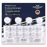 Magnetische Kindersicherung Schrank Hoffenbach®   12+4   Unsichtbare Schranksicherung 3M zum kleben   Schubladensicherung für Baby und Kinder  100% Sicherheit