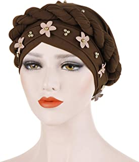 Kasty Twisted Turban Hat Flower Artificial Pearl Premium Quality Women Turban Hats