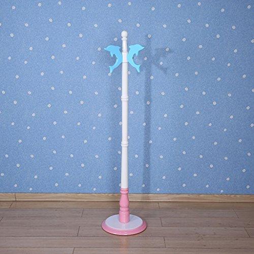 Porte-manteau SKC Lighting pour Enfants Cintres en Bois Massif pour Plancher Cintre Minimaliste Moderne Crochet de Chapeau de Maison Crochet Bleu, Rose (34 * 34 * 143cm) (Couleur : Rose)