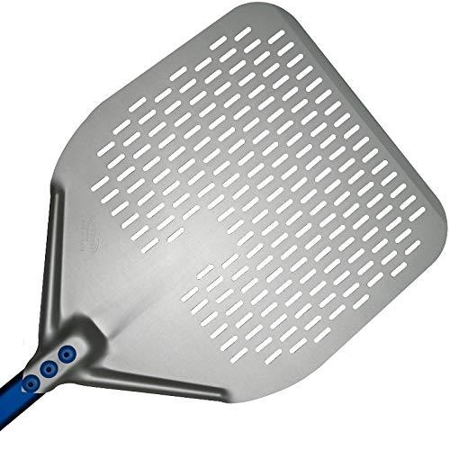 Pala para pizza perforada Line azul de 33 x 183 cm Gi.Metal de aleación de aluminio