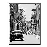 DuanWu La Habana Cuba - Ciudad de Las Calles Imagen Art Movie Wall Art Poster Lienzo Pintura Decoración para el hogar Imágenes Impresas en Lienzo -50x70 cm Sin Marco 1Pcs