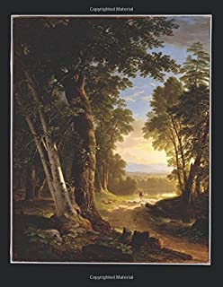 100 Page Unruled Blank Notebook - The Beeches - Asher Brown Durand - 1845: 8.5