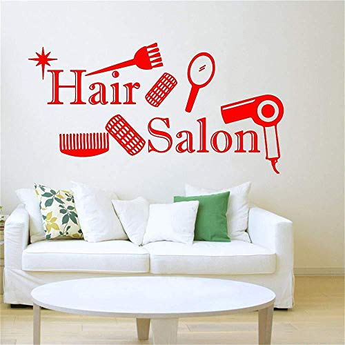 de Sticker Hair Shop wangpdp Pegatina Salon Home Pantalla Salon Shop Fondo Dormitorio Logo 42x112cm Barber eBodQWrCx