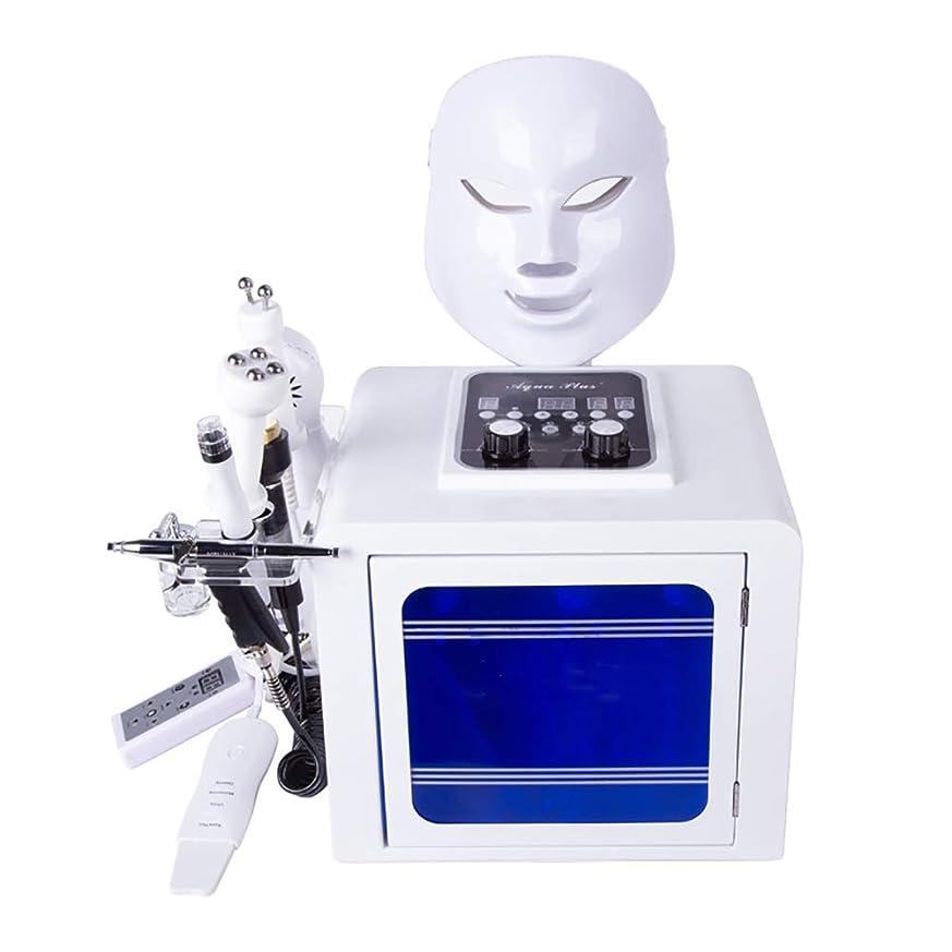 レッスンヤングフォロー8 1つの水の酸素マシンでは、スキンケアインジェクションフェイシャルモイスチャライジングクリーニング毛穴クリアのためのBIOマイクロマッサージ皮膚剥離ツールを持ち上げる無線周波数ハイドロジェ
