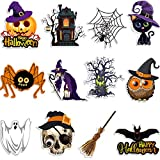 12 Stücke Halloween Ausschnitte, Kürbis, Fledermaus,