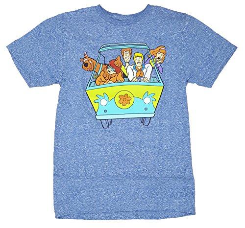 Fashion Scooby Doo Mystery Machine Van Blue Graphic T-Shirt - Small