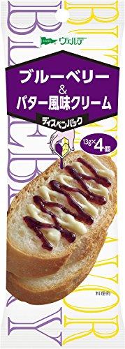 キユーピー アヲハタ ヴェルデ ブルーベリー&バター風味クリーム 袋 52g 4コ入り