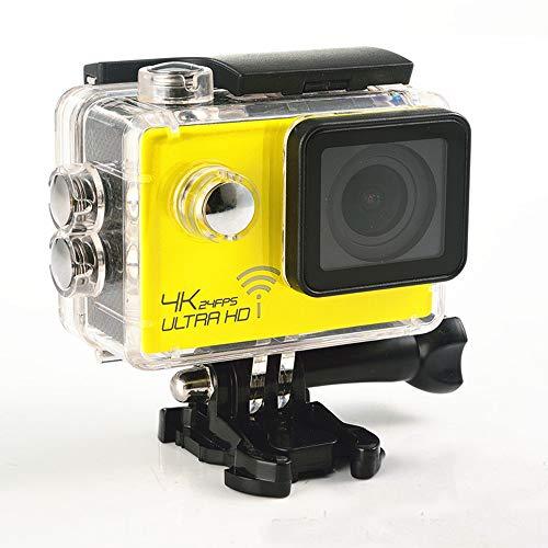 SJ8000 - Cámara de acción deportiva de 2,0 pulgadas, HD 4K 1080P, Wifi, DV 170 grados de gran angular, 30 m, resistente al agua, mando a distancia, color amarillo