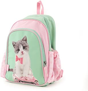 Schulrucksack/Backpack mit 2 Reißverschlussfächern Kitty Cute Mochila Tipo Casual, 35 cm, 12 Liters, Multicolor (Kitty Cute)