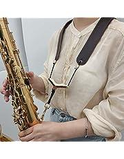 Correa de hombro de piel auténtica para saxofón o saxofón alto