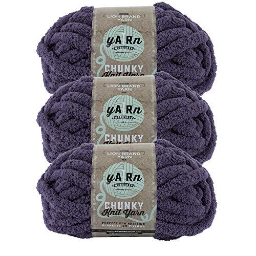 (3 Pack) Lion Brand Yarn 951-147 AR Workshop Chunky Knit Yarn, Fig Tree