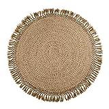 Área de alfombras alfombras con borlas, tejida a mano de Bohemia del estilo étnico del piso Decoración de tapetes, alfombras de yute natural for el hogar, de varios tamaños ( tamaño : 300CM/9.8 ft )