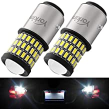 Yorkim Super Bright 1157 LED Bulbs, 1157 Brake Light Bulb, 9-30V 1157 2057 2357 7528 BAY15D LED Bulb with Projector Replacement for Back Up Reverse Lights or Tail Lights - White