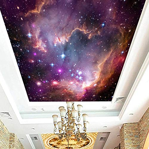 Soffitto soffitto_3d tridimensionale grande colore murale soggiorno camera da letto soffitto carta da parati universo cielo stellato nuvo Carta Da Parati moderna 3D Fotomurali spiaggia-400cm×280cm
