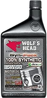 Wolf's Head 100% Synthetic 5W-30-12QT case
