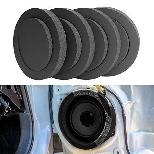 """VOFONO Speaker Fast Rings 6.5 inch [4 PCS], Car Speaker Foam Baffles Enhancer System Sponge Bass Blocker Kit for 6"""" and 6.5"""" Speaker"""