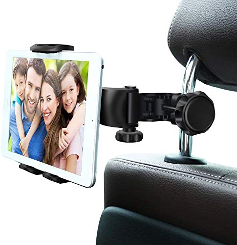 """Car Headrest Mount,WBSZDS Adjustable Car Tablet Mount Holder for iPad Pro/Air/Mini,Tablets, Nintendo Switch,Kindle Fire HD,iPhone,Smartphones Headrest Holder Stand for 4""""-11"""" Wide with 360°Rotation"""