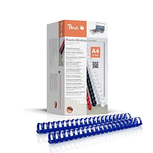 Peach PB428-04 - Rilegatura in plastica, formato DIN A4, capacità 270 pagine, 50 pezzi, colore: Blu