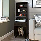 Ameriwood Home Southlander Tall, Espresso Turntable Stand