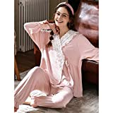 RPP-Pajamas Pijamas De Mujer - Pijamas De Mujer Conjuntos De Mujer Ropa De Dormir De Manga Larga Ropa De Dormir para Mujer Conjuntos De Salón Suaves(Color:si,Size:S)