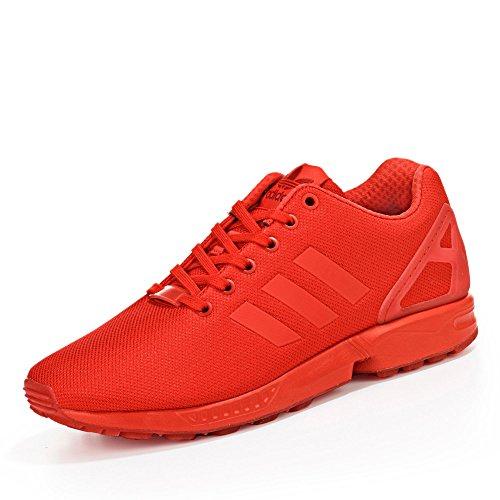 adidas Herren ZX Flux Low-Top, Rot (Red/Red/Red), 40 EU