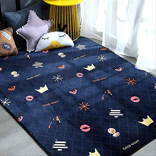 Axnx tapijten, modern tapijt en tapijt, voor woonkamer, vloer, kinderen, speelmat, slaapkamer, badkamer, home, deurmat, 80 x 190 cm, kleur 20