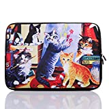 15-Inch to 15.6-Inch Neoprene Laptop Sleeve Case for 15 15.4 15.6' Inch ACER/DELL/ASUS/HP/Lenovo/Sony/Samsung/Toshiba (15-15.6 Inch, Colourful Cat)