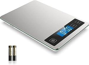 Balança de alimentos Nicewell - 6 kg, digital, 1 g/0,1 oz de graduação precisa, aço inoxidável e vidro temperado